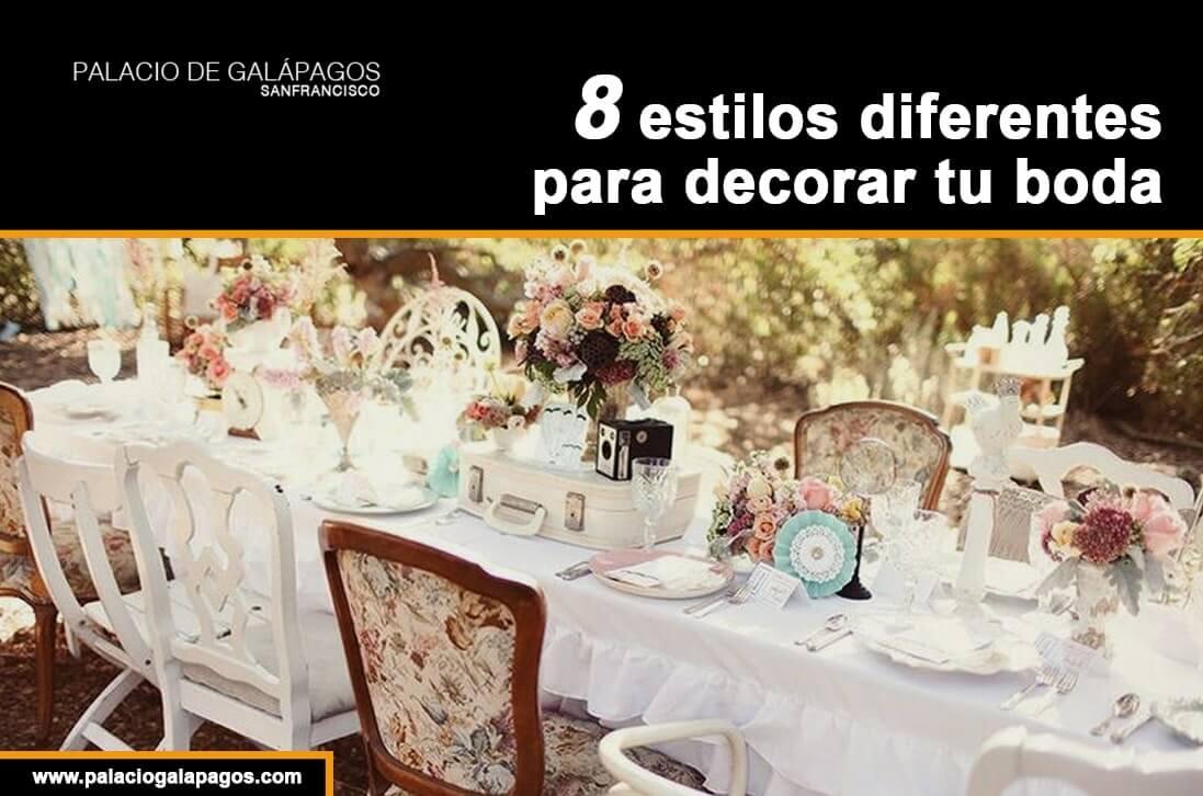 tipos diferentes de bodas