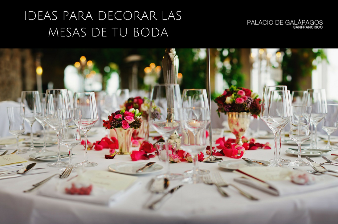Ideas para decorar las mesas de tu boda