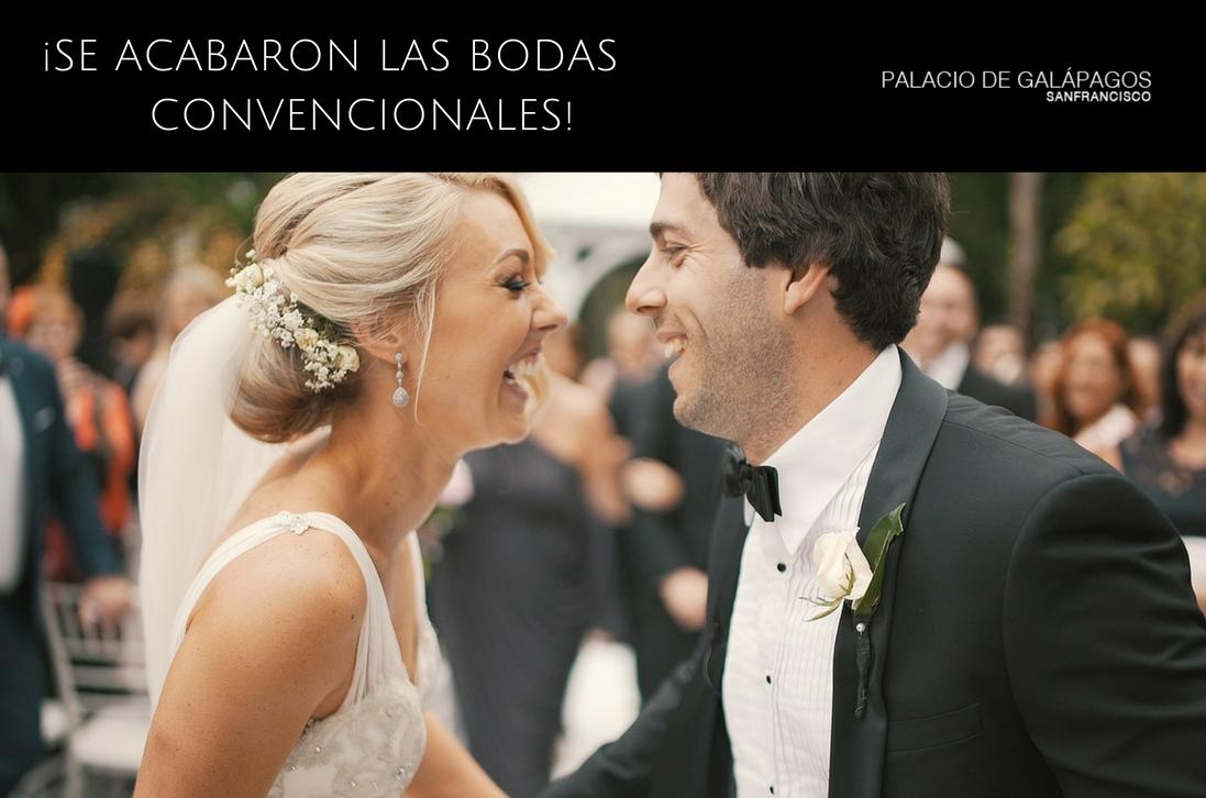 se acabaron las bodas convencionales ¡rompe las reglas!