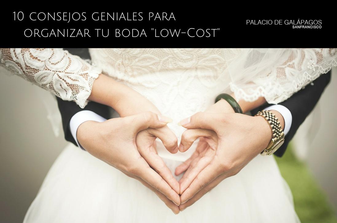 Consejos para organizar una boda low-cost