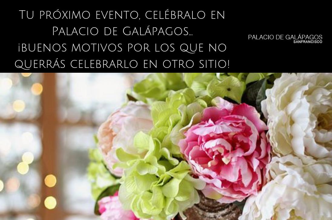 celebra tu próximo evento en Palacio de Galápagos