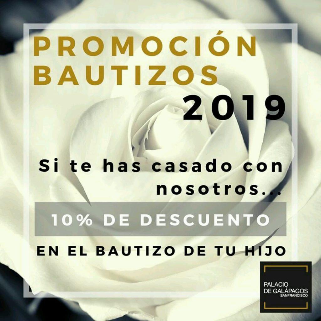 Promoción para bautizos