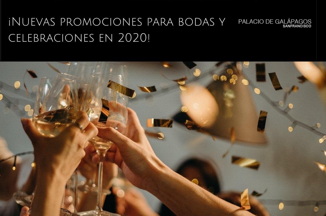 Nuevas promociones para bodas y celebraciones 2020