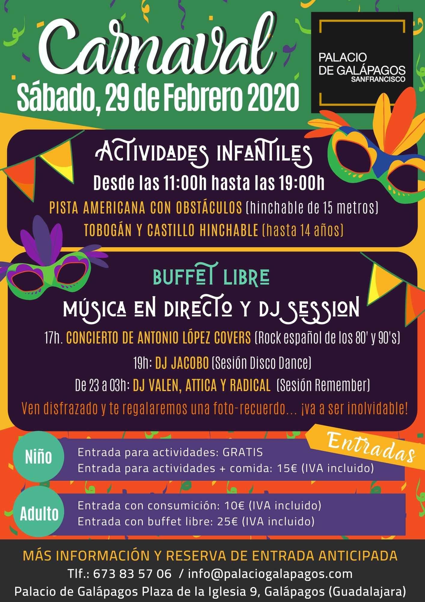Carnaval 2020 en Palacio de Galápagos