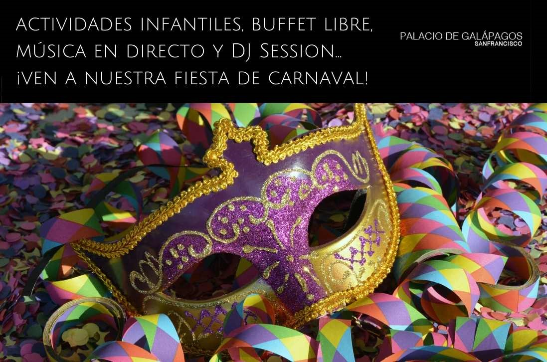 Fiesta de carnaval 2020 en Palacio de Galápagos